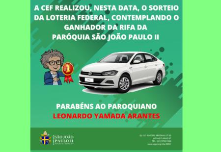 RIFA SORTEADA!